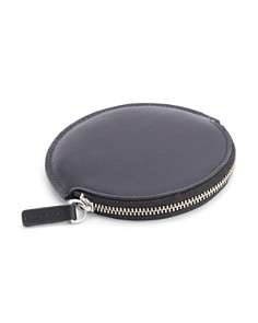 ROYCE New York - Circular Leather Earbud Travel Case