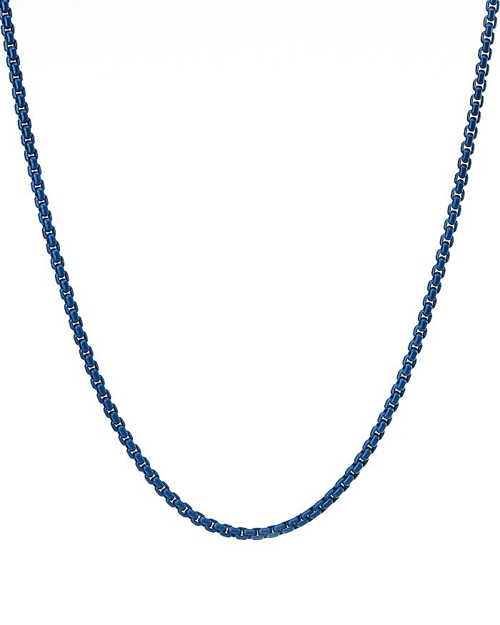 """David Yurman - Box Chain Necklace in Blue, 26"""""""