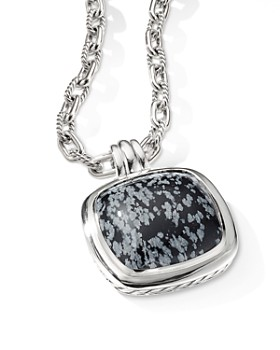 David Yurman - Albion Pendant in Sterling Silver with Snowflake Obsidian