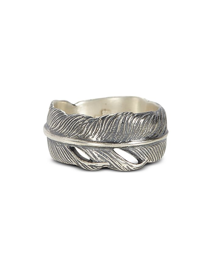 John Varvatos Collection - Sterling Silver Feather Ring