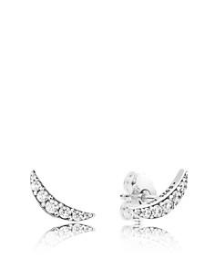 PANDORA - Sterling Silver & Cubic Zirconia Lunar Light Stud Earrings