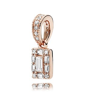 PANDORA - Rose Gold Tone-Plated Sterling Silver & Cubic Zirconia Luminous Ice Charm