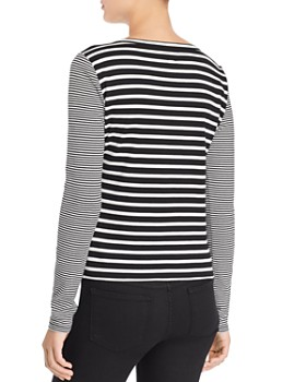 Rebecca Taylor - Long-Sleeve Striped Cotton Tee