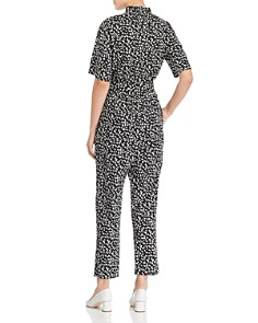 Rebecca Taylor - Short-Sleeve Printed Cotton Jumpsuit