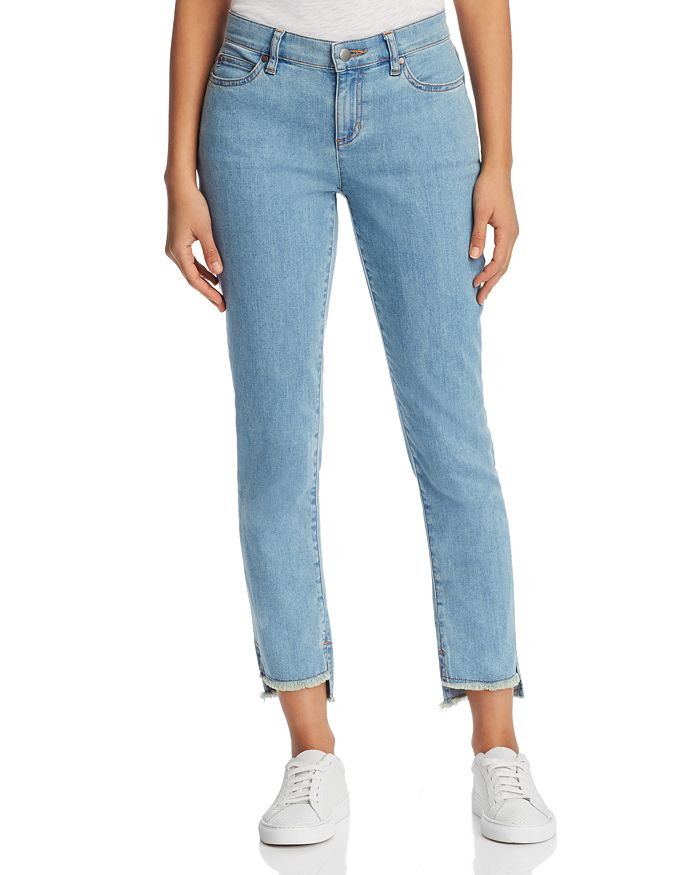 Eileen Fisher Petites - Slim Step-Hem Ankle Jeans in Frost