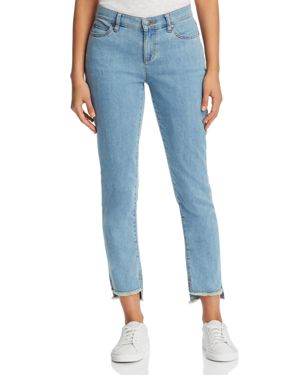Eileen Fisher Petites Slim Step-Hem Ankle Jeans in Frost