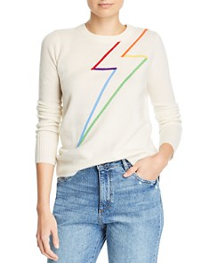 Madeleine Thompson - Fairfax Lightning Bolt Cashmere Crewneck Sweater