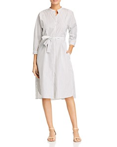 Weekend Max Mara - Urbano Striped Cotton Shirt Dress