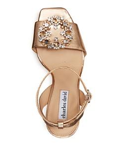 Charles David - Women's Vanity Embellished Metallic Leather High-Heel Sandals