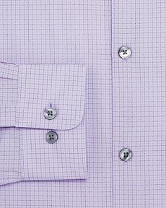 John Varvatos Star USA - Tattersal-Checked Regular Fit Dress Shirt