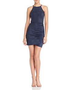 AQUA - Ruched Faux Suede Dress - 100% Exclusive