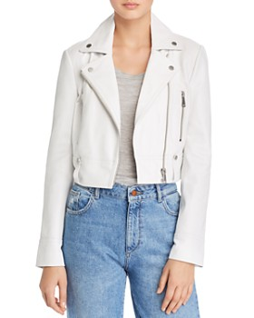 c0c94eb2eec AQUA - Cropped Leather Moto Jacket - 100% Exclusive ...