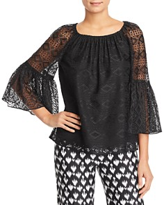 Le Gali - Rosa Geo Lace Bell-Sleeve Blouse - 100% Exclusive