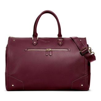 Women's Leather Garment Weekender Bag by Hook And Albert