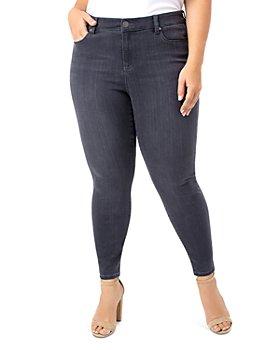 Liverpool Los Angeles Plus - Abby Ankle Skinny Jeans in Meteorite Wash