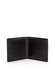 Burberry - Perforated Check Leather Bi-Fold Wallet