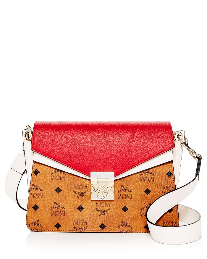 MCM - Mazzanin Visetos Color-Block Leather Shoulder Bag