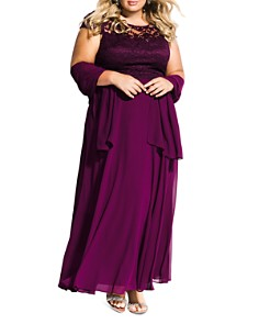 City Chic Plus - Elegance Two-Piece Gown