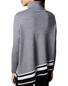 KAREN MILLEN - Asymmetric Striped-Hem Sweater