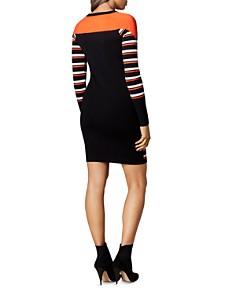 KAREN MILLEN - Color-Block Striped Dress