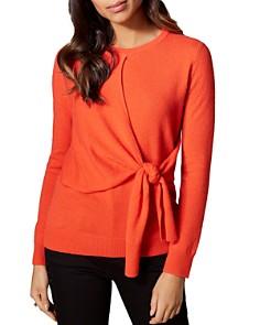 KAREN MILLEN - Tie-Front Cashmere Sweater