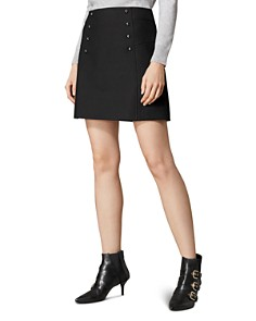 KAREN MILLEN - Button Detail A-Line Mini Skirt