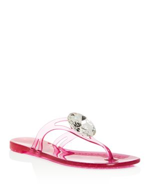 Casadei Women's Embellished Jelly Thong Sandals