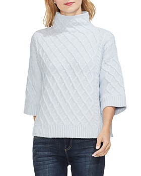 VINCE CAMUTO - Cable Stitch Funnel Neck Sweater