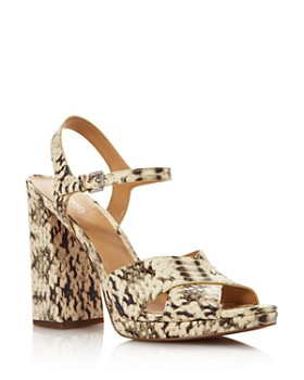 MICHAEL Michael Kors - Women's Alexia Snake-Embossed Leather Platform Sandals