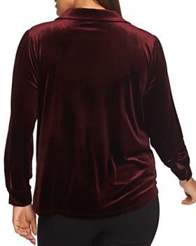 1.STATE Plus - Velvet Button-Down Shirt