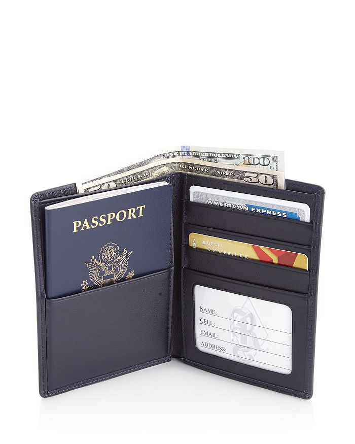 ROYCE New York - Leather RFID-Blocking Passport Case & Wallet