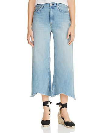 rag & bone - Ruth High-Rise Cropped Wide-Leg Jeans in Clean Frant - 100% Exclusive