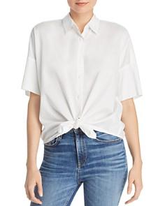 rag & bone/JEAN - Cotton Tie-Front Shirt