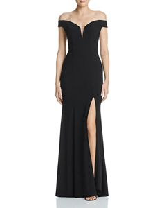 2e62f5ed55a2 AQUA Off-the-Shoulder Gown - 100% Exclusive | Bloomingdale's