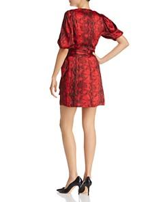Ronny Kobo - Torrey Draped Python Print Dress