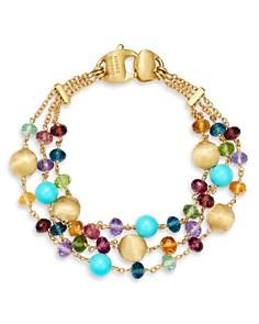 Marco Bicego - 18K Yellow Gold Africa Gemstone Beaded Three-Strand Bracelet