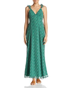 Sadie & Sage - Ditsy Ruffled Tie-Back Maxi Dress