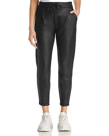 big discount wholesale price convenience goods Vero Moda Eva Faux-Leather Drawstring Pants | Bloomingdale's
