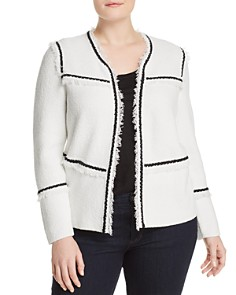 NIC and ZOE Plus - First Class Fringe Trim Jacket
