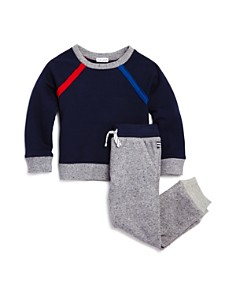 Splendid - Boys' French Terry Raglan Sweatshirt & Jogger Pants Set - Little Kid