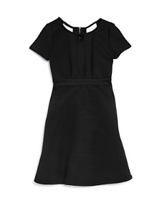 US Angels - Girls' Short Sleeve Ribbed Fit-and-Flare Dress - Big Kid