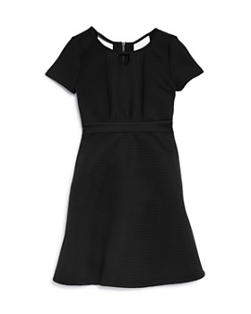 7a56f8619c2 US Angels - Girls  Short Sleeve Ribbed Fit-and-Flare Dress - Big ...