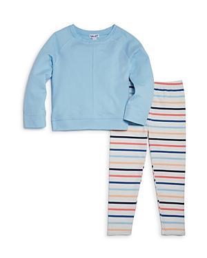 Splendid Girls Raglan Top  Striped Leggings Set  Little Kid