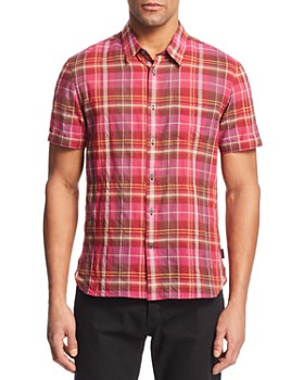 John Varvatos Star USA - Clyde Madras Plaid Regular Fit Shirt