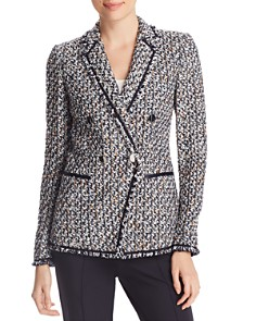 Lafayette 148 New York - Devin Double-Breasted Tweed Blazer