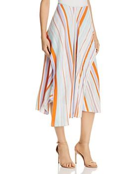 ASTR the Label - Pallette Stripe Overlay Asymmetric Skirt