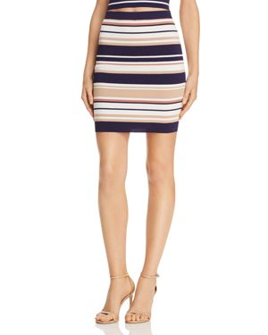 Bardot Multi-Stripe Knit Mini Skirt