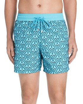 Vilebrequin - Arce De Chine Flocked Anchor-Print Swim Shorts