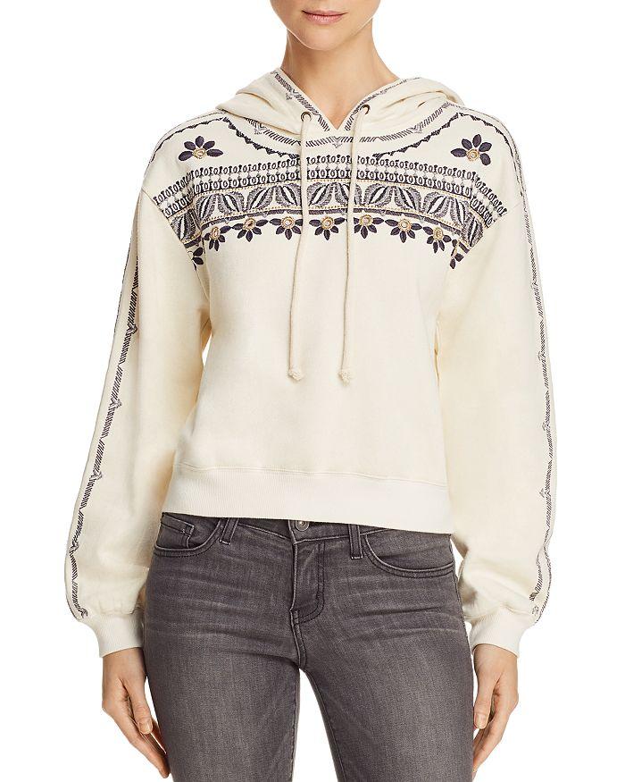 AQUA - Embroidered Drop Shoulder Hoodie - 100% Exclusive