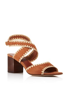 63d351930e87b1 Tory Burch - Women s Arianne Suede Block Heel Sandals - 100% Exclusive ...